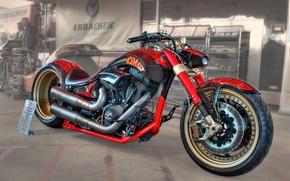 Картинка дизайн, HDR, мотоцикл, форма, байк, Erbacher