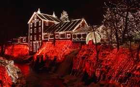 Картинка зима, снег, дом, год, новый