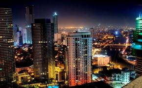 Картинка ночь, Индонезия, night, Джакарта, Indonesia, Jakarta