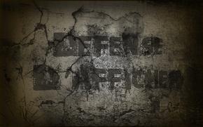 Обои wall, креатив, defense creative, стена, слова, буквы