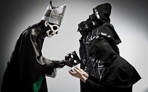Картинка маска, Ghost, посвящение, nameless ghouls, papa Emeritus II