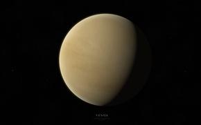 Картинка звезды, свет, планета, тень, Венера, Venus