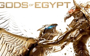 Картинка cinema, fox, wings, blue eyes, Egypt, power, red eyes, fight, movie, Gerard Butler, battle, Set, …