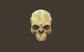 Картинка череп, минимализм, голова, скелет