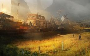 Картинка корабль, сталкер, пустош, Shipold