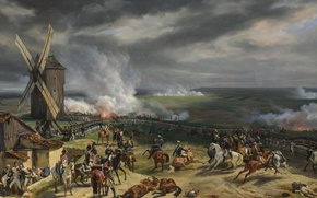 Картинка масло, картина, холст, «Сражение при Вальми», «The Battle of Valmy»
