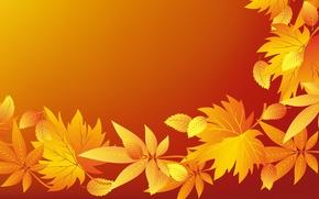 Картинка осень, текстура, листики