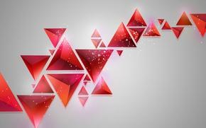 Картинка фон, треугольники, геометрия, абстрактный