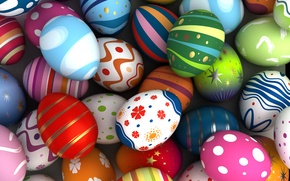 Картинка праздник, краски, яйца, пасха