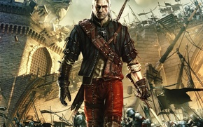 Картинка The Witcher 2, Castle, Game, Assassins of Kings, Battle, The Witcher 2 Assassins of Kings