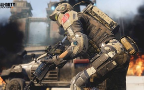 Картинка будущее, война, солдат, Call of Duty: Black Ops 3