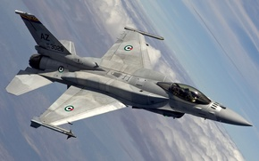 Картинка авиация, обои, истребитель, америка, F16 Falcon