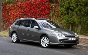 Картинка Renault, autumn, gray, Laguna