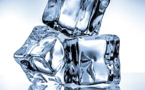 Картинка лед, кубики, ice, blue, cubes