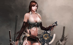 Картинка Грудь, Меч, Воин, GameWallpapers, Divine Souls