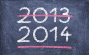 Картинка Новый Год, Доска, мел, 2013, 2014, черта