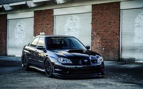 Картинка Subaru, Impreza, WRX, black, Субару, Импреза, STi