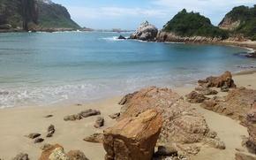 Картинка море, небо, камни, скалы, ЮАР, Найсна, knysna. south africa