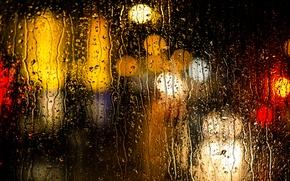 Картинка вода, капли, поверхность, дождь, цвет, текстура