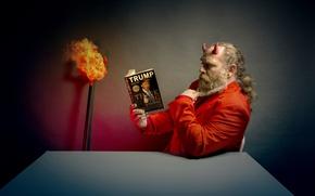 Картинка человек, книга, чёрт
