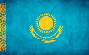 Обои флаг, свобода, Казахстан