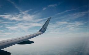 Обои самолет, небо, крыло, полет