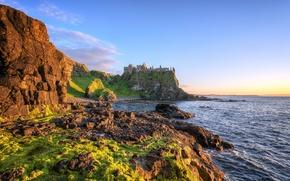Картинка coast, ireland, atlantic ocean, dunluce castle