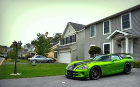Обои green, Dodge, Viper, ACR, SRT-10, Snakeskin Edition