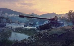 Картинка WoT, World of Tanks, ПТ-САУ, Мир Танков, Wargaming Net, Противотанковые САУ, Rhm Borsig Waffentrager, Grille …
