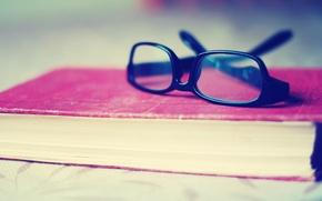 Картинка фон, розовая, настроения, очки, красиво, книга, ярко, полноэкранные, HD wallpapers, обои для рабочего стола, оправа