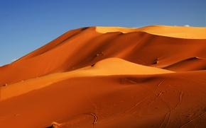 Картинка песок, небо, пустыня, бархан