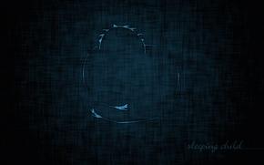 Картинка синий, фон, темный