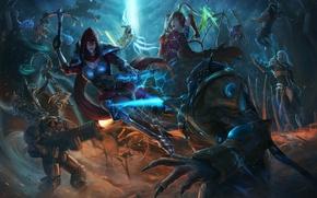 Картинка starcraft, Warcraft, Diablo, Demon Hunter, Jim Raynor, Zeratul, sarah kerrigan, queen of blades, Tyrael, Heroes …