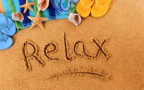 Картинка relax, summer, beach, sand