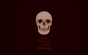 Картинка надпись, череп, минимализм, скелет, темные