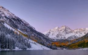 Картинка Природа, Горы, Озеро, Панорама, Пейзаж