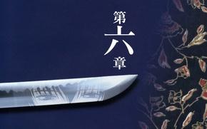 Обои оружие, иероглиф, настроение