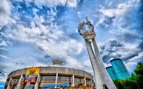 Картинка небо, HDR, цирк, Алматы