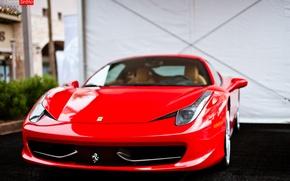 Картинка машина, авто, перед, Ferrari, красная, 458, auto, Italia, Charles Siritho