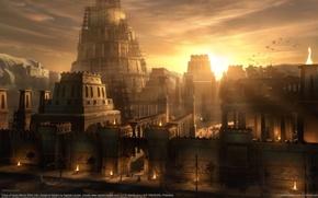 Картинка город, дом, замок