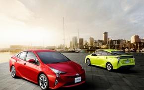 Обои Toyota, приус, гибрид, тойота, Prius