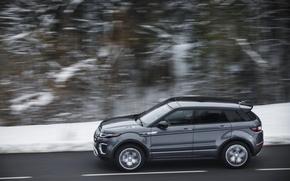Картинка внедорожник, Land Rover, Range Rover, автомобиль, вид сбоку, в движении, Evoque, Autobiography