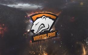 Обои wallpaper, logo, dota 2, virtus.pro, virtus pro