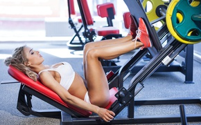 Картинка legs, blonde, workout, fitness, gym