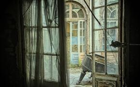 Картинка фон, дверь, пианино