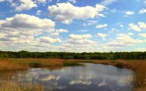 Картинка облака, озеро, Лето, Сибирь