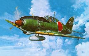 Картинка aircraft, war, airplane, aviation, J2M Raiden, dogfight