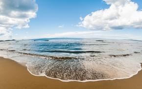 Обои берег, beach, пляж, sea, песок, море, sand, волны, summer, ocean