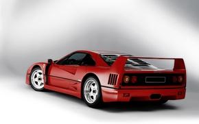 Обои феррари, фон, суперкар, F40, Ferrari, 1989