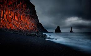 Картинка скалы, берег, прибой
